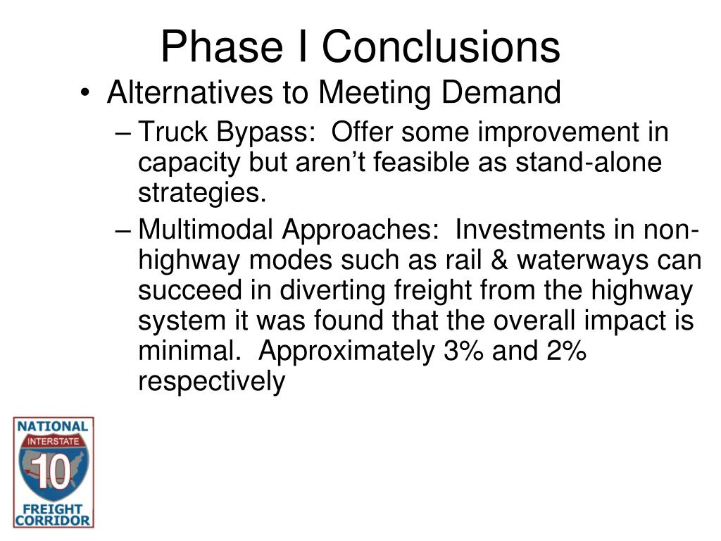 Phase I Conclusions