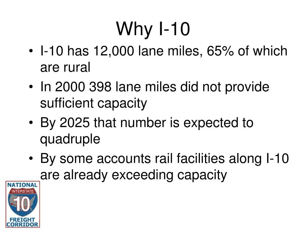 Why I-10