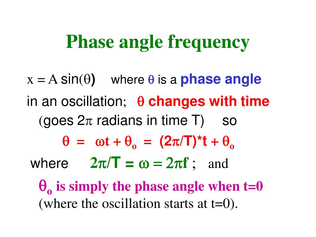 Phase angle frequency