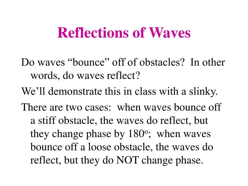 Reflections of Waves