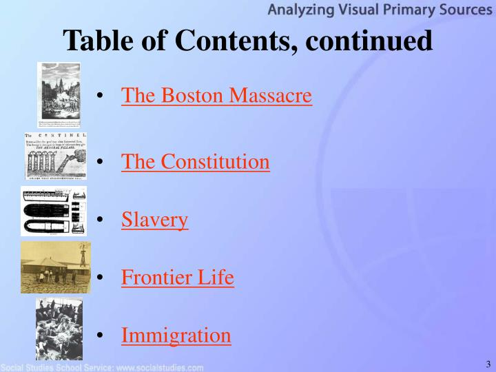 Table of contents continued l.jpg
