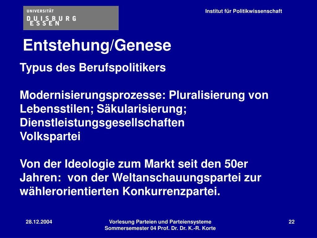 Entstehung/Genese