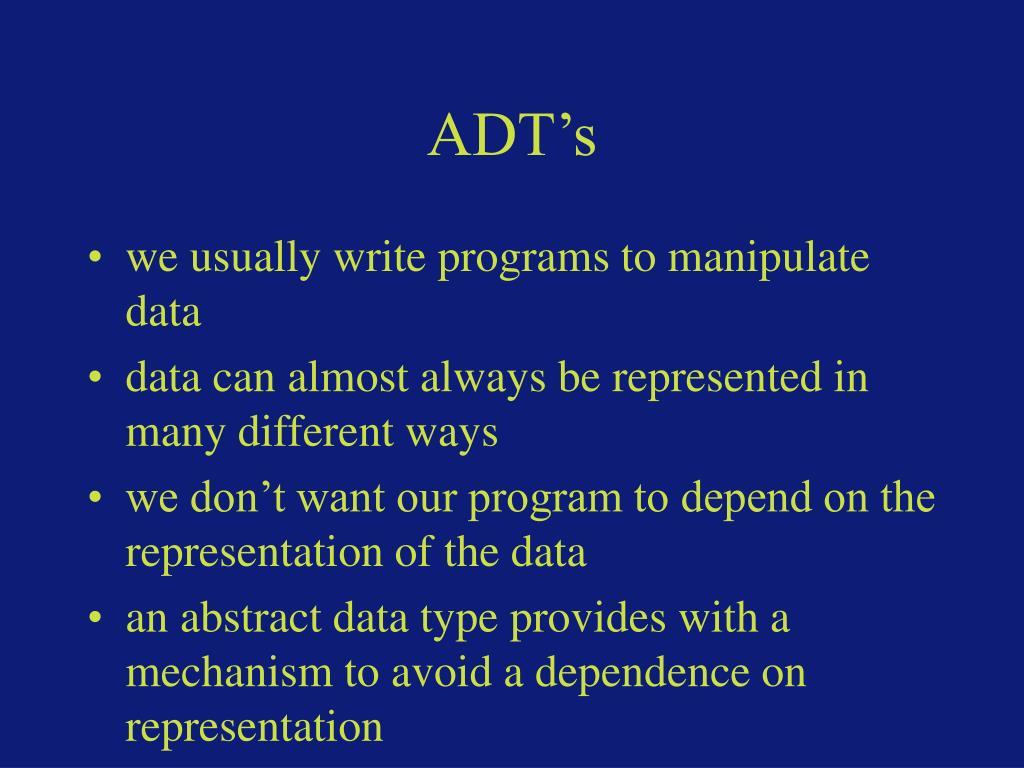 ADT's