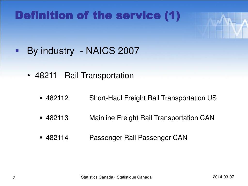 By industry  - NAICS 2007