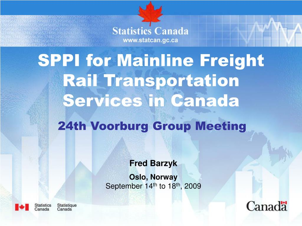 SPPI for Mainline Freight Rail Transportation Services in Canada