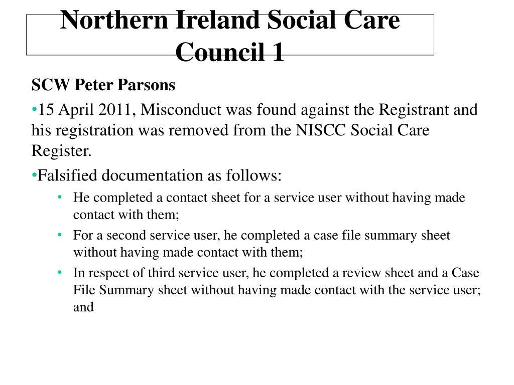 Northern Ireland Social Care Council 1