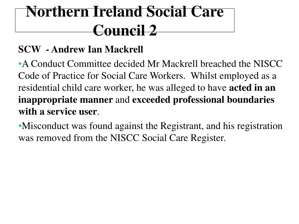 Northern Ireland Social Care Council 2