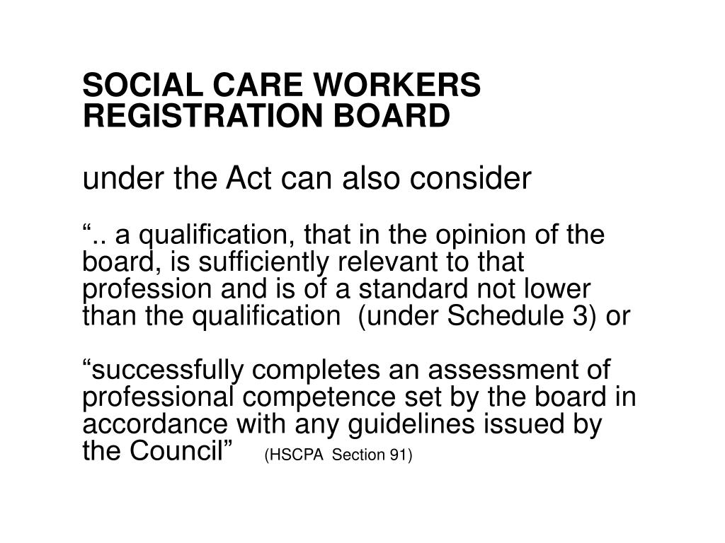 SOCIAL CARE WORKERS