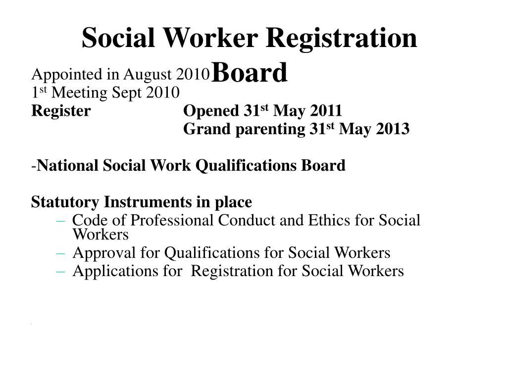 Social Worker Registration  Board