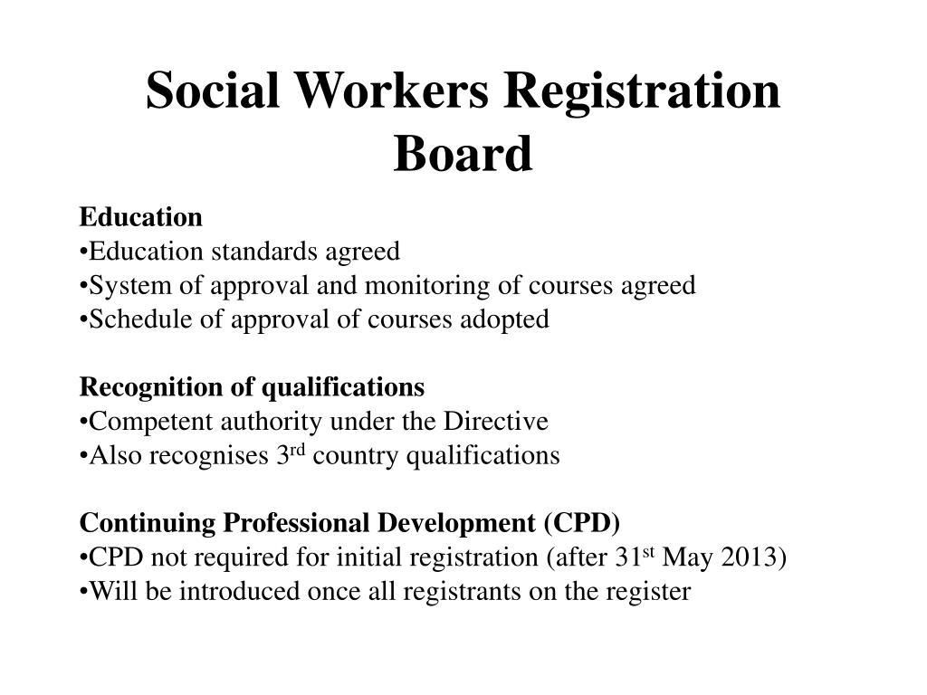 Social Workers Registration Board