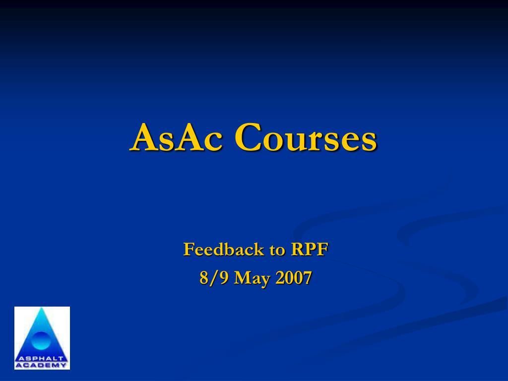 AsAc Courses