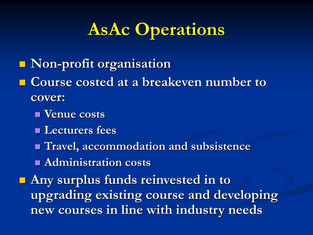 AsAc Operations