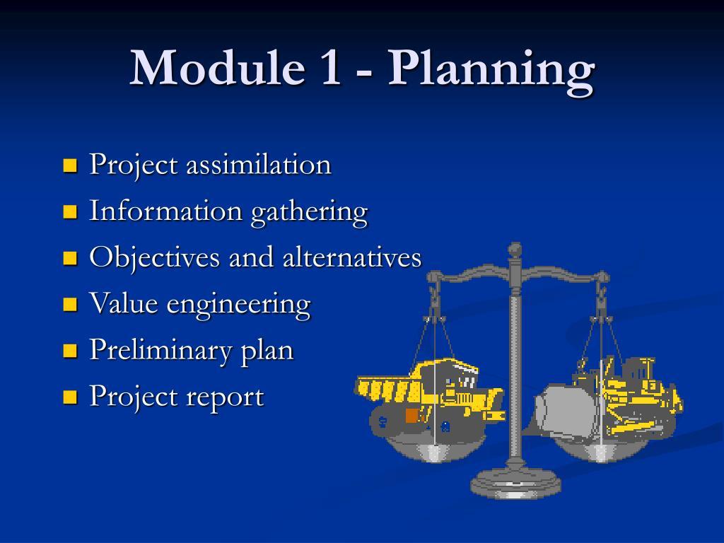 Module 1 - Planning