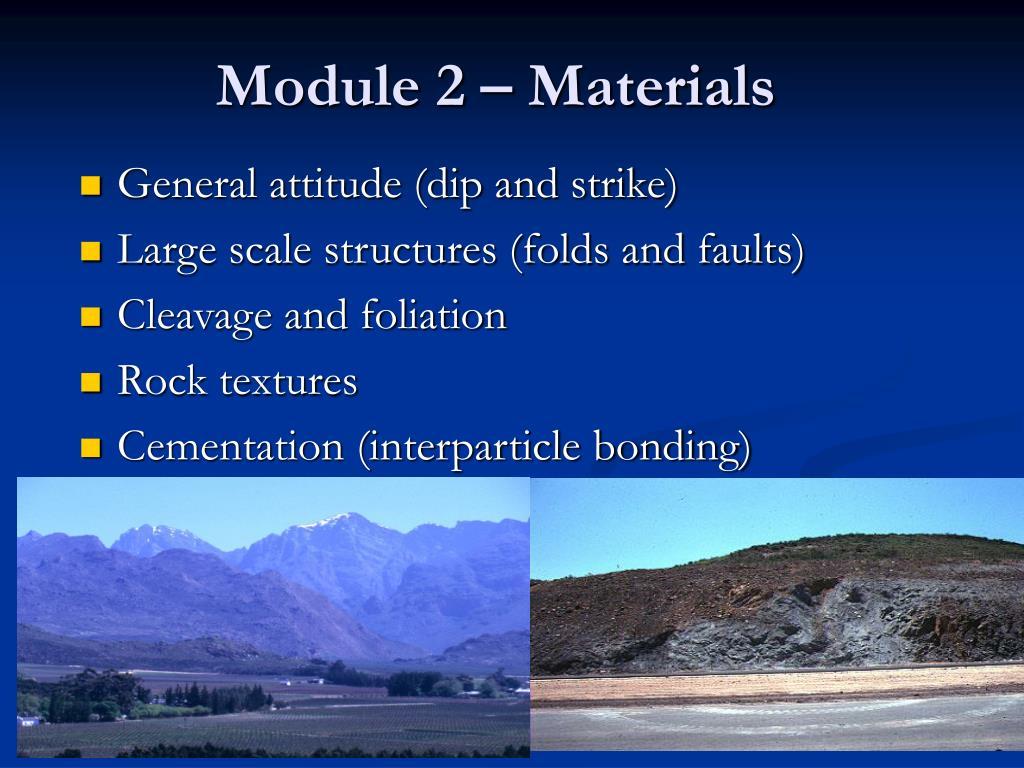 Module 2 – Materials