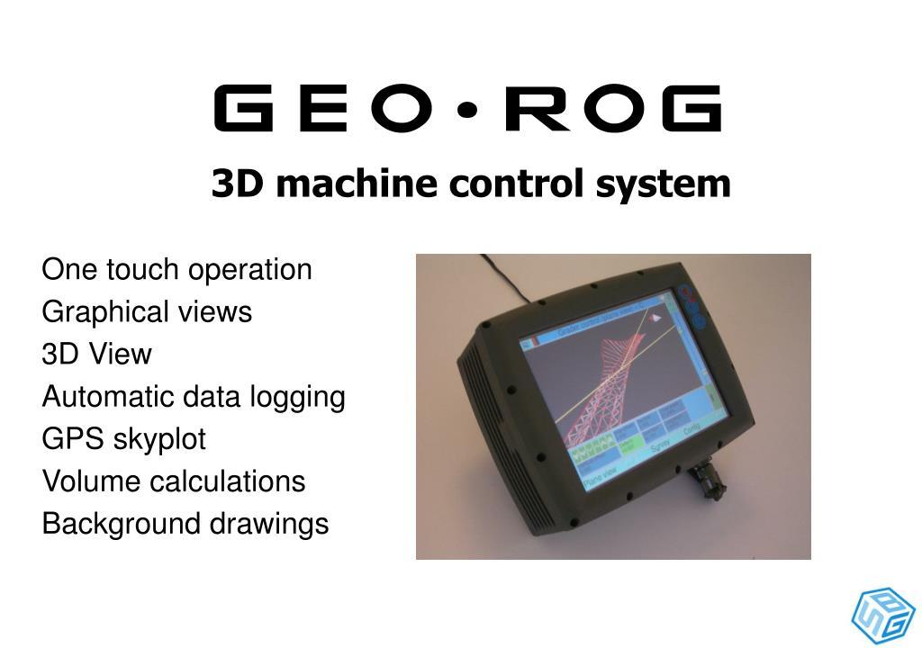 3D machine control system
