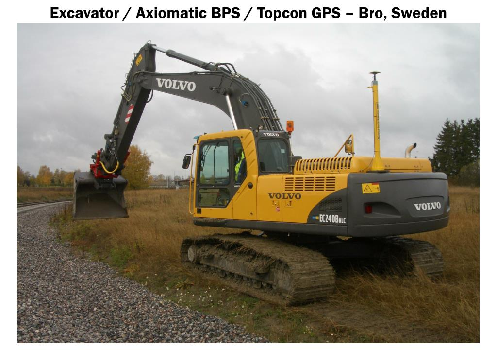 Excavator / Axiomatic BPS / Topcon GPS – Bro, Sweden