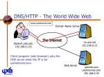 dns http the world wide web