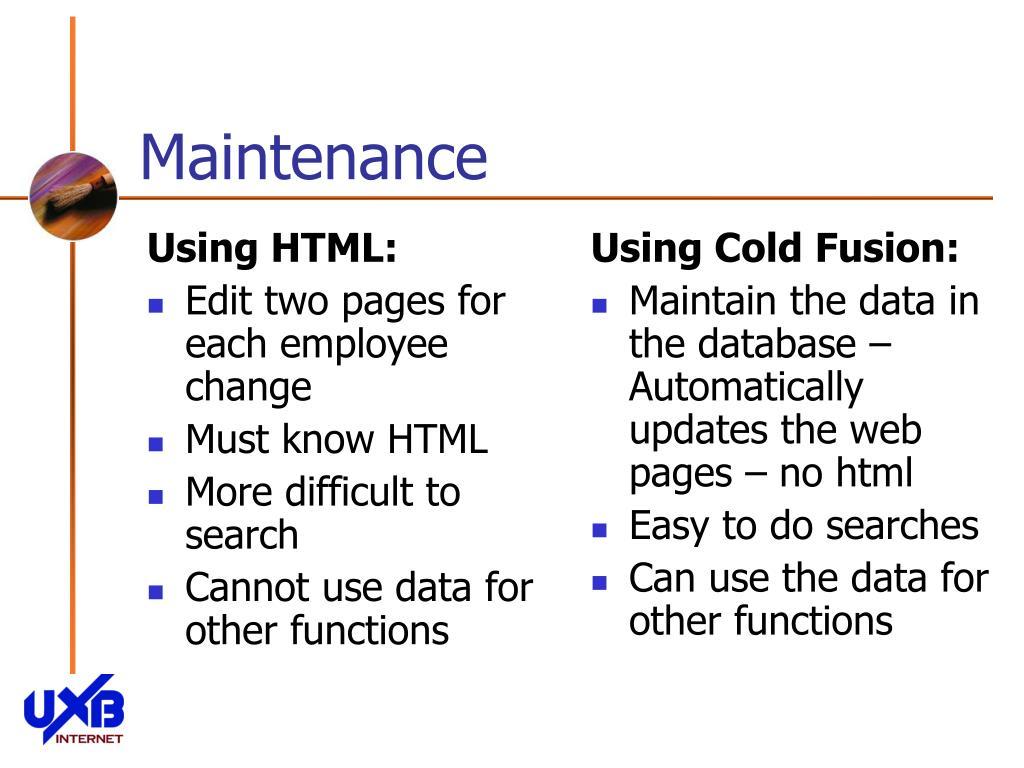 Using HTML: