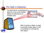 the web is stateless18