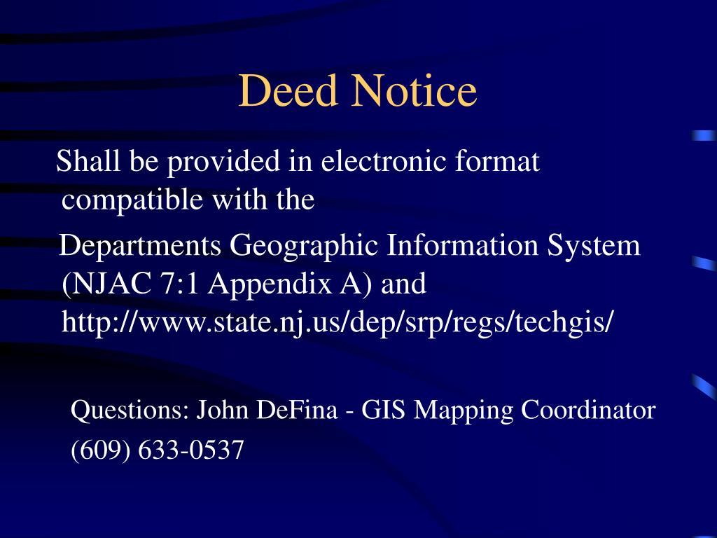 Deed Notice