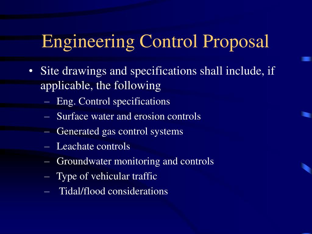 Engineering Control Proposal