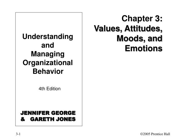 Chapter 3 values attitudes moods and emotions