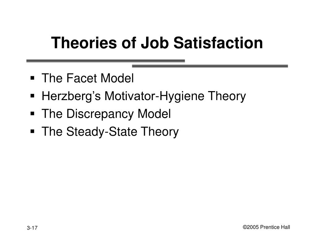 Theories of Job Satisfaction