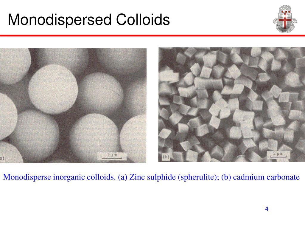 Monodispersed Colloids