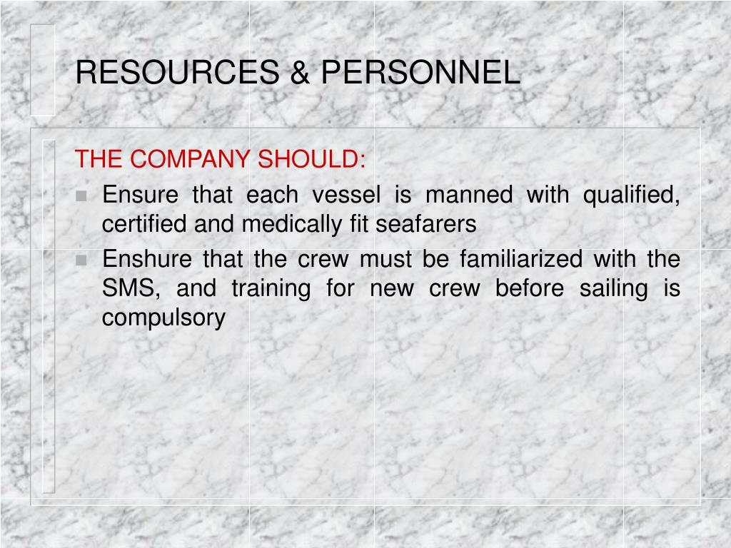 RESOURCES & PERSONNEL