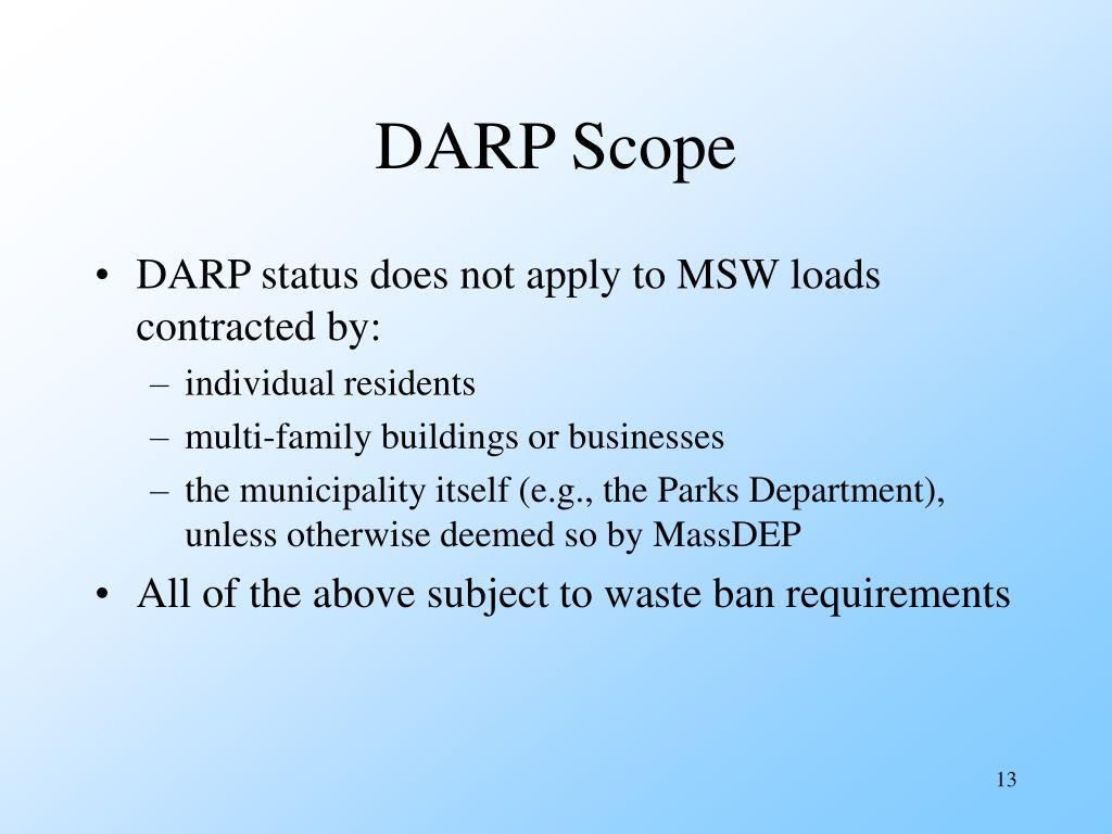 DARP Scope