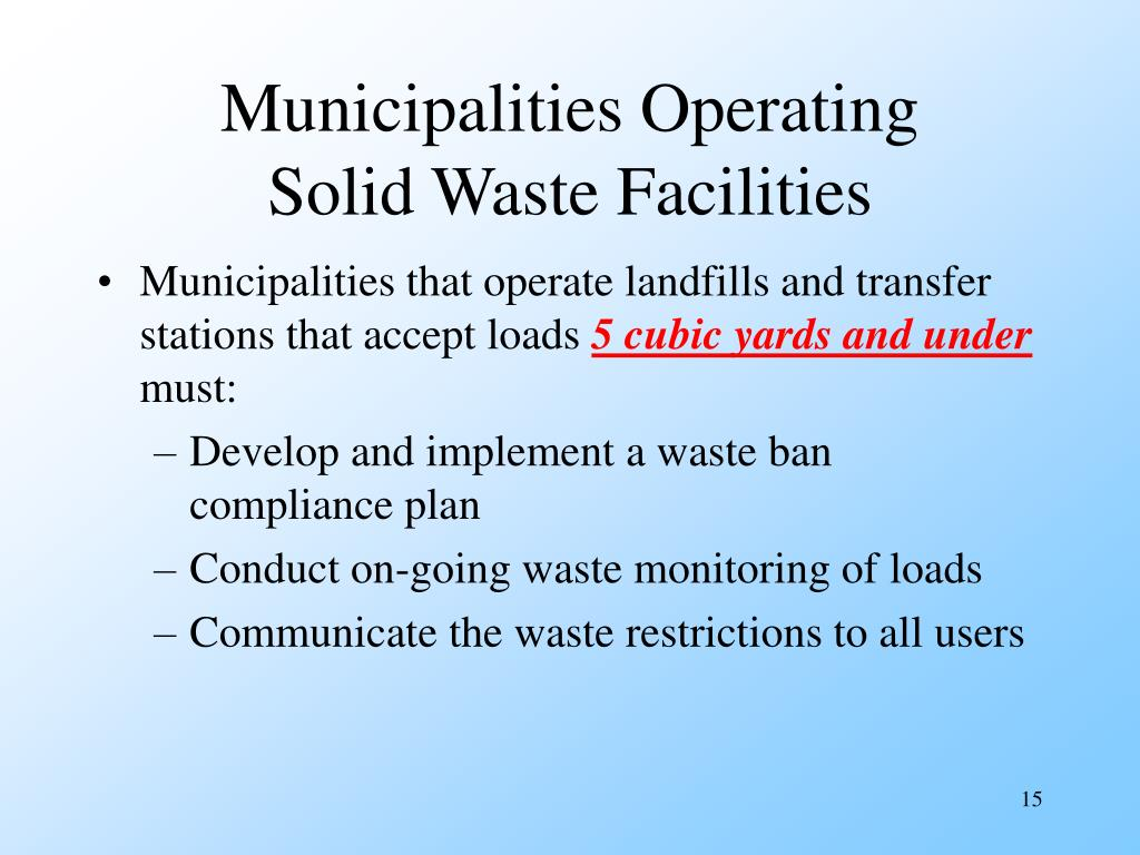 Municipalities Operating