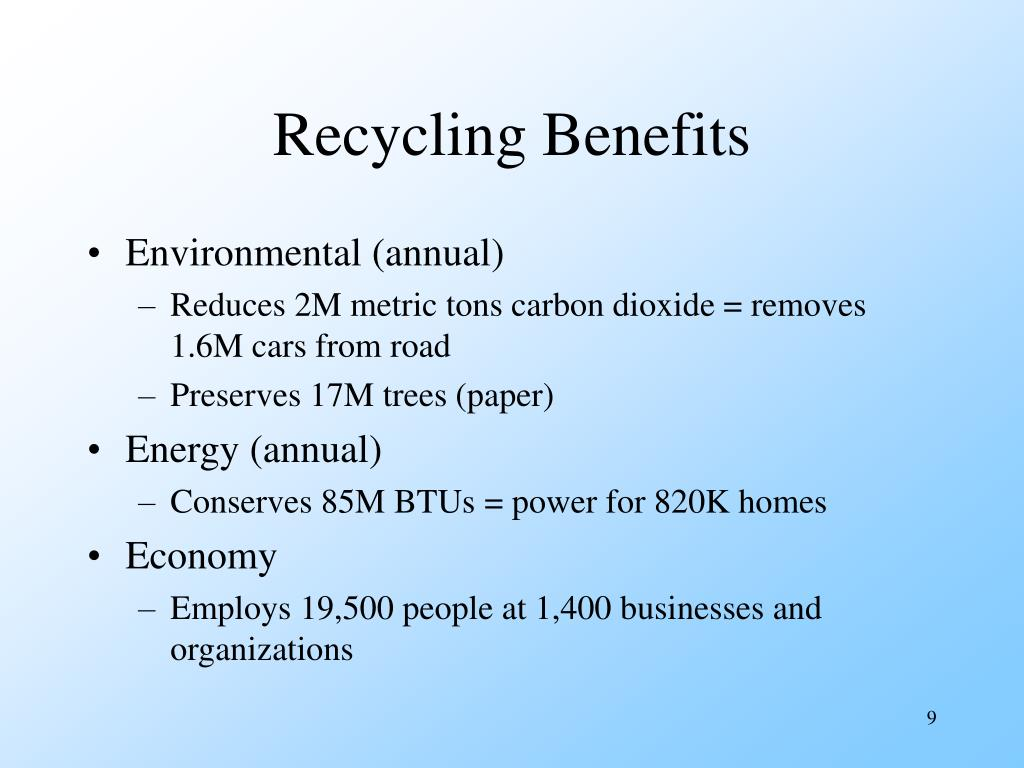 Recycling Benefits