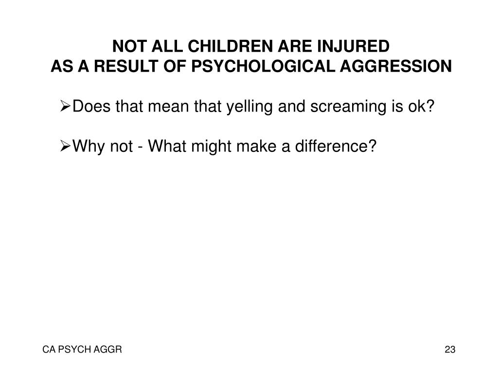 NOT ALL CHILDREN ARE INJURED