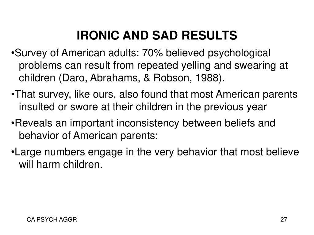 IRONIC AND SAD RESULTS