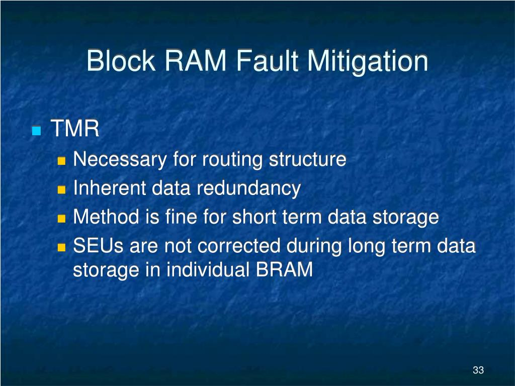 Block RAM Fault Mitigation