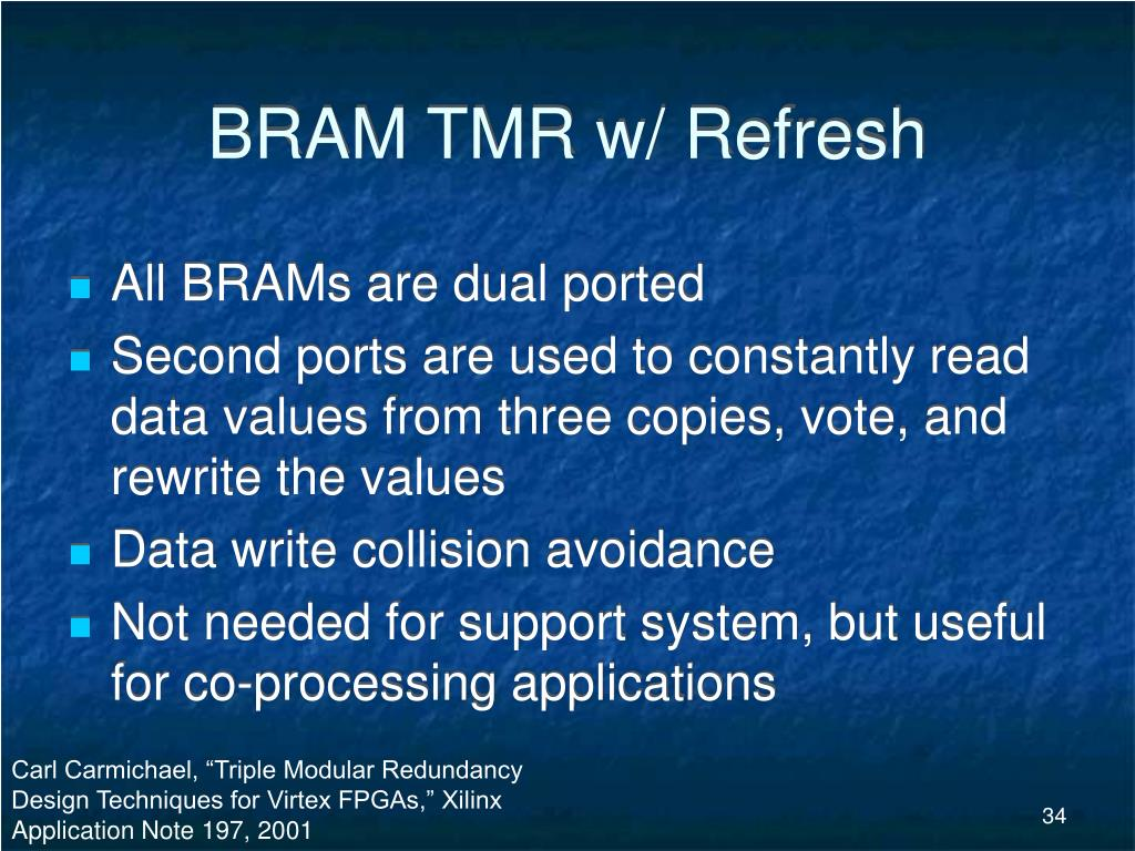 BRAM TMR w/ Refresh