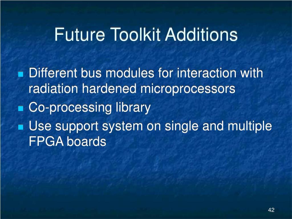 Future Toolkit Additions