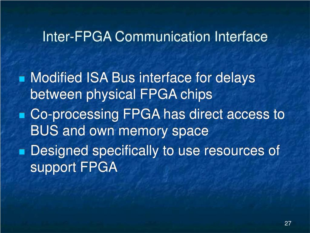 Inter-FPGA Communication Interface