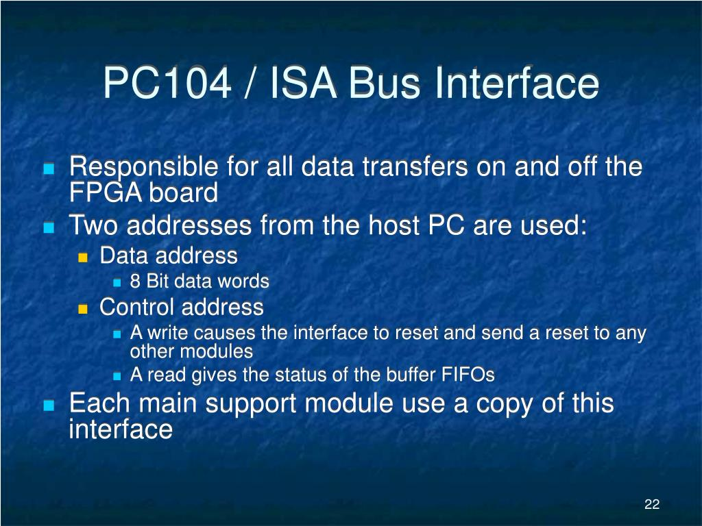 PC104 / ISA Bus Interface