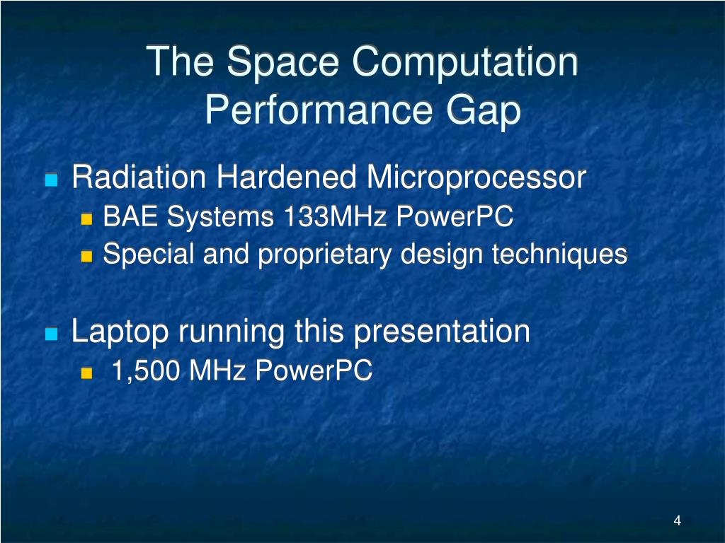 The Space Computation Performance Gap