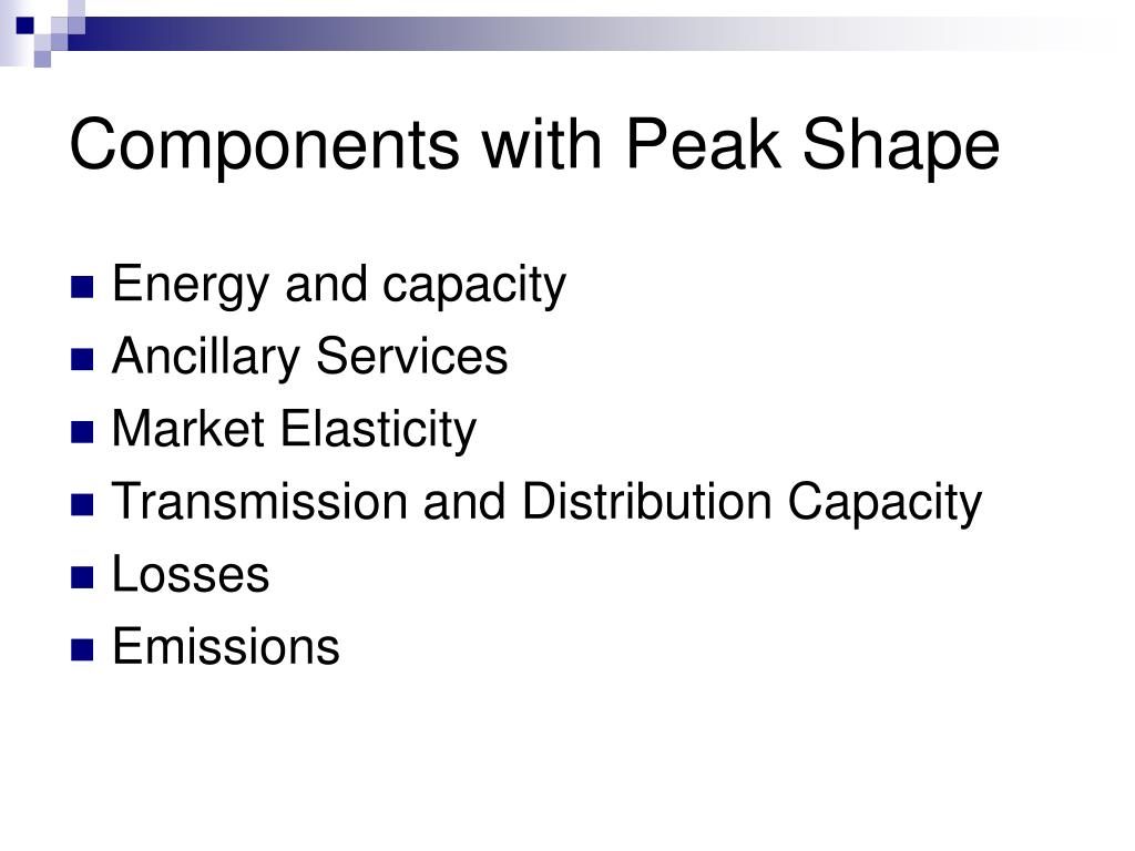 Components with Peak Shape