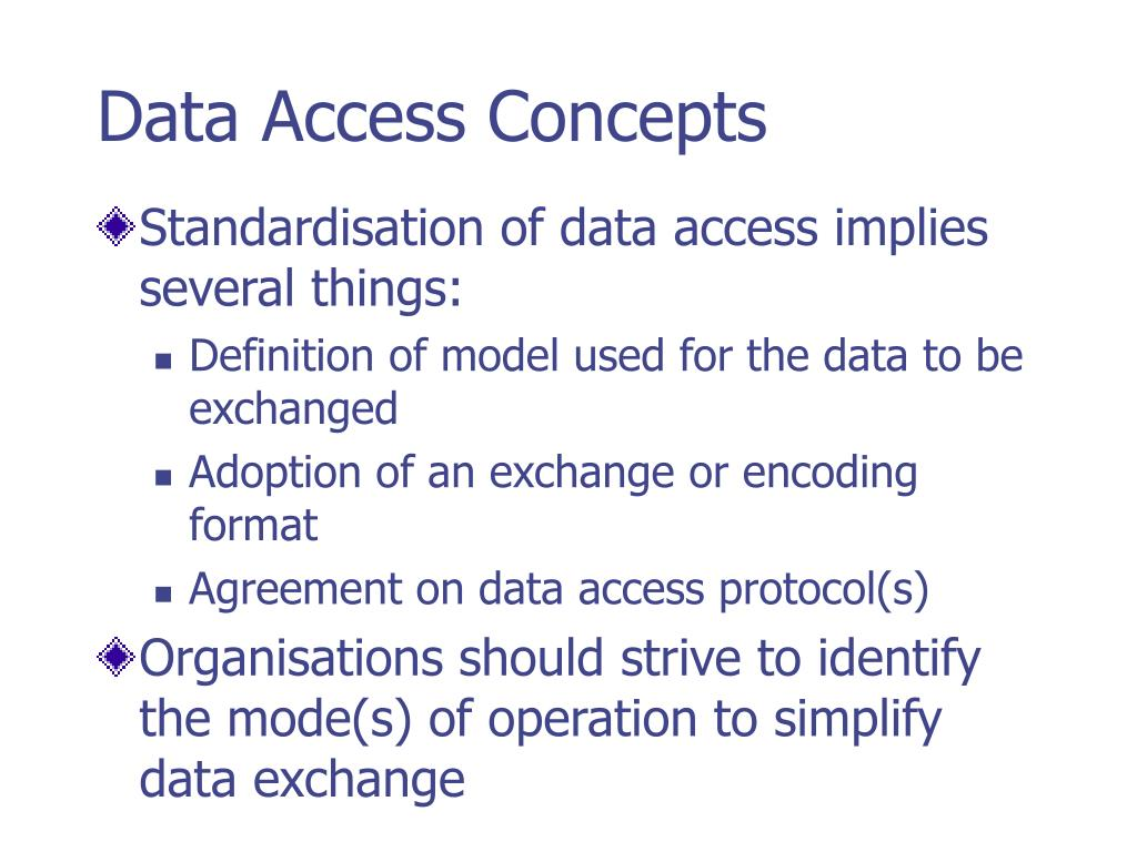 Data Access Concepts