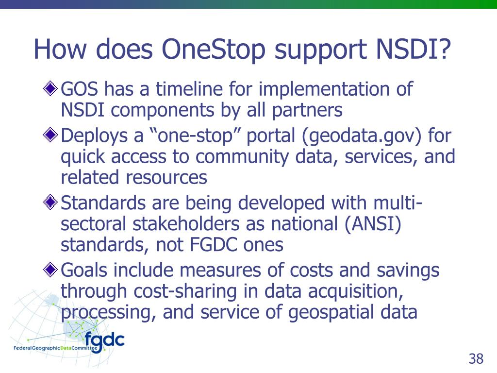 How does OneStop support NSDI?