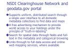 nsdi clearinghouse network and geodata gov portal