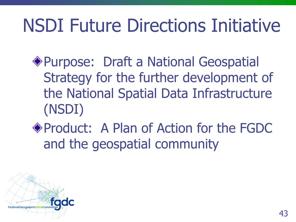 NSDI Future Directions Initiative