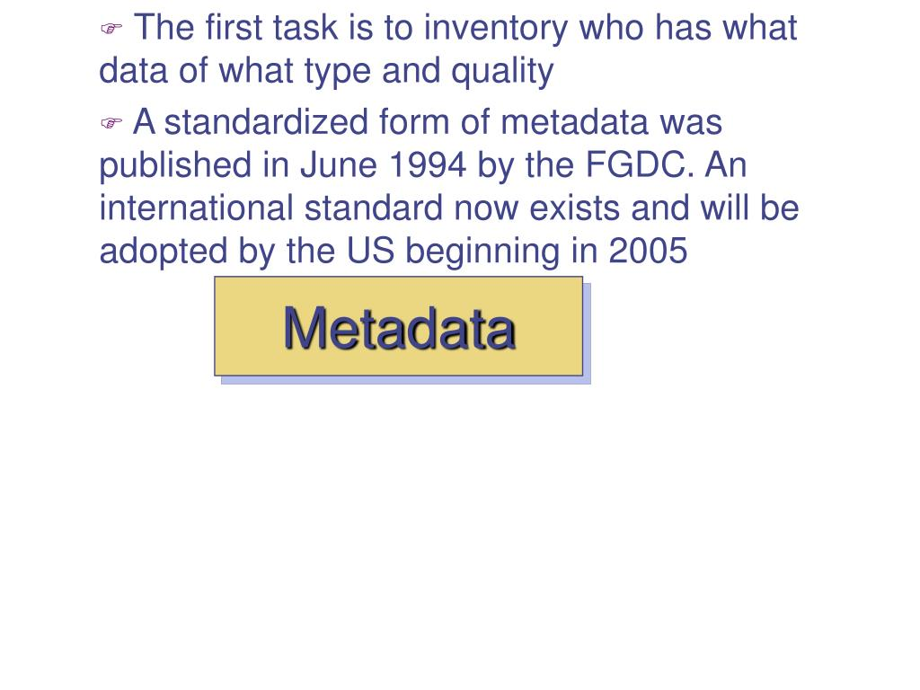 The first task is to inventory who has what data of what type and quality