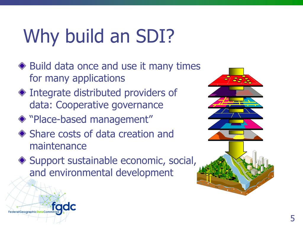 Why build an SDI?