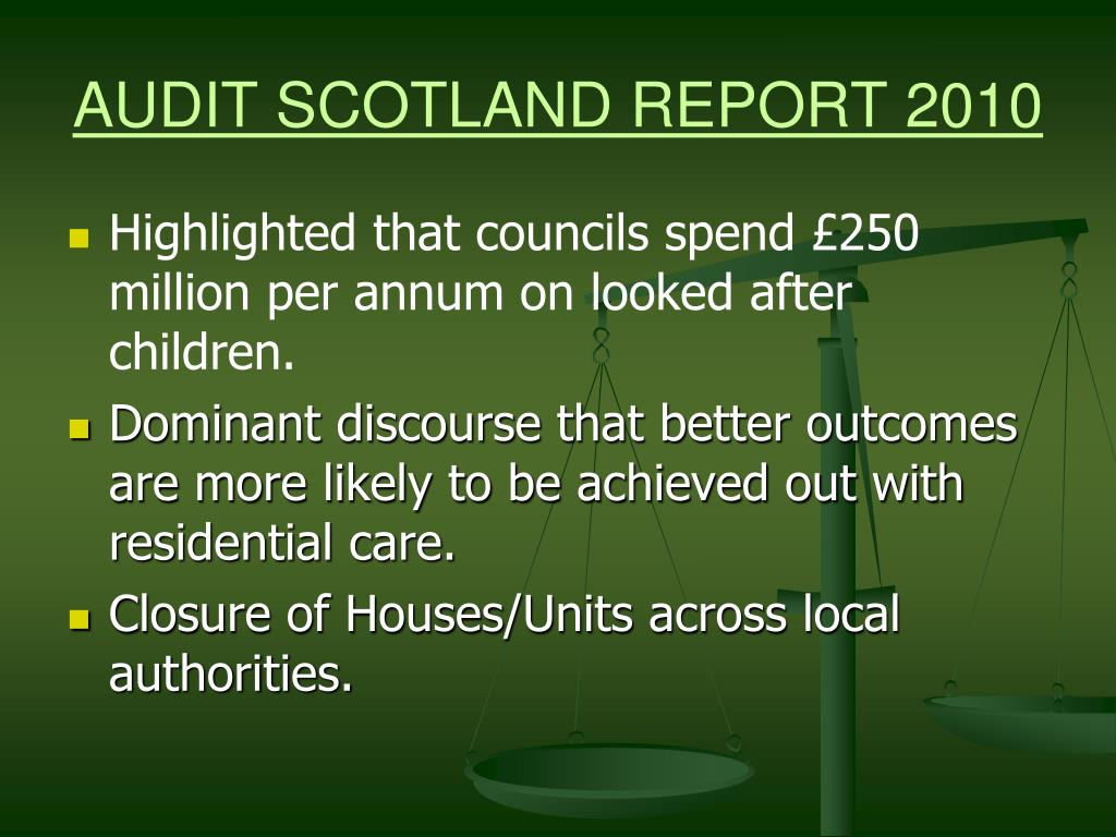 AUDIT SCOTLAND REPORT 2010