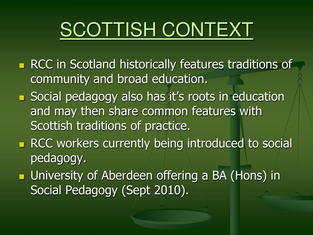 SCOTTISH CONTEXT
