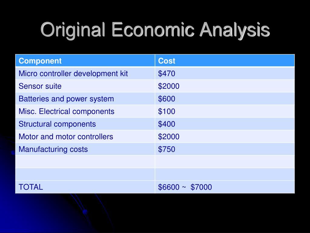 Original Economic Analysis